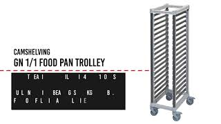 GN Pan Trolley Features and Benefits