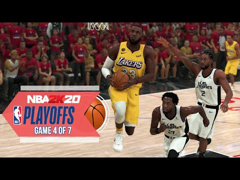 NBA 2020 Virtual Playoffs - Lakers vs Clippers Western Conference Finals Game 4  LAL vs LAC (NBA 2K)
