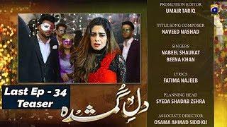Dil-e-Gumshuda - Last EP 34 Teaser - 13th Nov 2019 - HAR PAL GEO DRAMAS