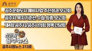 신바람 공주뉴스 313회(문화도시 예비사업, 복지기준선, 정책 간담회, 정례브리핑) 이미지