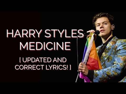 MEDICINE HARRY STYLES LYRIC VIDEO! 🏳️🌈 [UPDATED AND CORRECT]