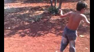 preview picture of video 'Syrian kid test shotgun fail'