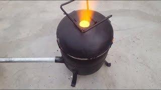 Сделайте простой металлический литейный цех с использованием пустого газового баллона.