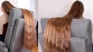 RealRapunzels   Silky, Long, Brown Hair Sliding In Chair