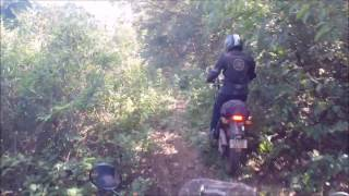Riding Down A Trail Slope