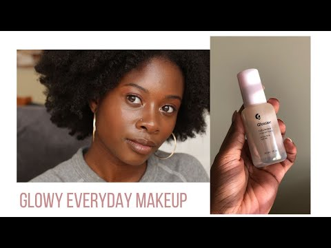 "Everyday ""No Makeup"" Routine ft *New* Glossier (Dark Skin)   Damola Akintunde"