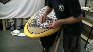 Stand Up Paddle Board Instruction:  Lesson 13 - Glue on Pad