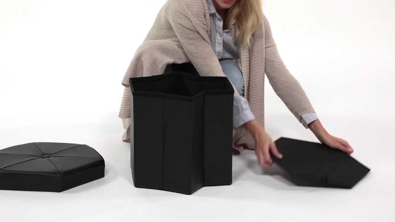 Video von: Faltbarer Sitzhocker sechseckig