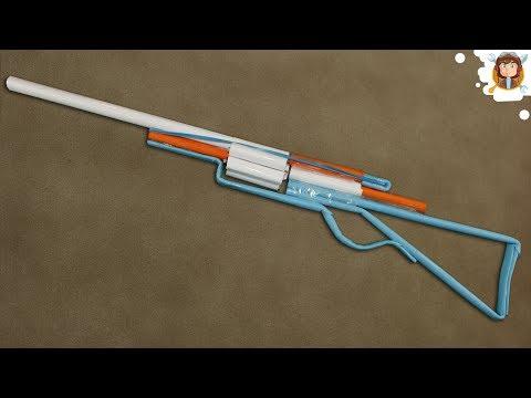 Paper Revolver / Shotgun - (Shoots paper Bullets)
