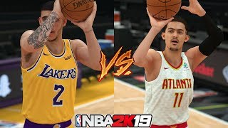 NBA 2K19 Lonzo Ball vs Trae Young - 3 Point Contest