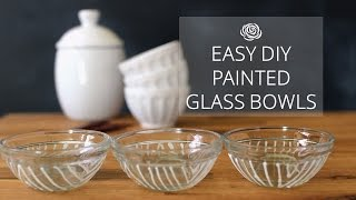 Easy DIY Painted Glass Bowls | MAKE