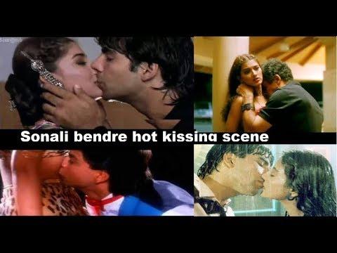 Opps! Sonali bendre hot kissing scene