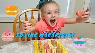 TRYING MACAROONS | Taste Test Challenge!