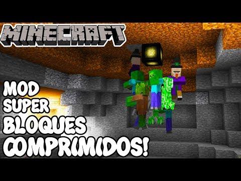 Minecraft 1.12.1 MOD SUPER BLOQUES COMPRIMIDOS! Compression Mod Español!