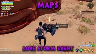 MAPS - SEARCH 5 HEXSYLVANIAN TRAVEL CHESTS - Love Storm Event - Fortnite Save the World