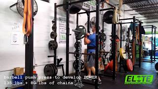 Develop a POWERFUL Upper Body With Chain Overhead Press