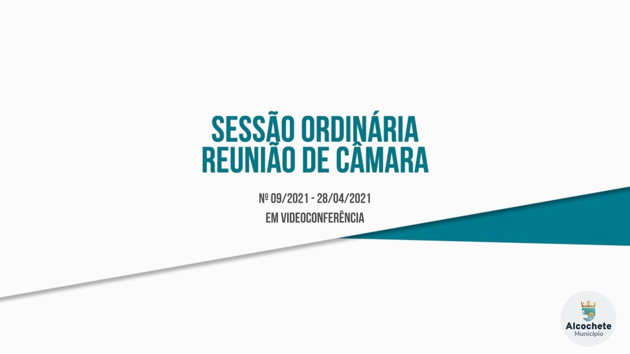 Reunião Ordinária de Câmara Municipal Nº 8/2021