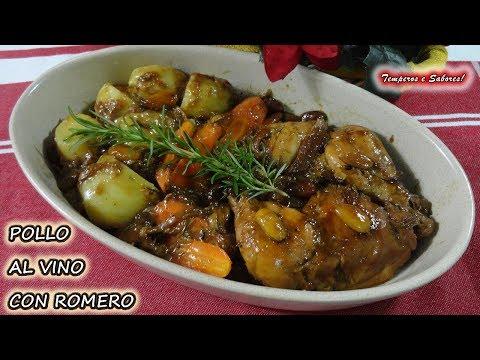 POLLO AL VINO CON ROMERO receta navideña fácil y muy deliciosa