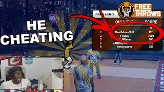 CHEATERS STOPPED ME FROM WINNING FREE THROW NEW EVENT IN NBA 2K19!!