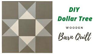 DIY Dollar Tree Barn Quilt/ DIY Home Décor/ DIY Wood Project/ DIY Farmhouse Décor/Easy Decor Project