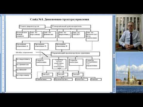 Лекция № 13 Организационные структуры управления в строительстве