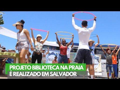 É NOTÍCIA: Projeto Biblioteca nas Praias esteve em Amaralina neste sábado (24)
