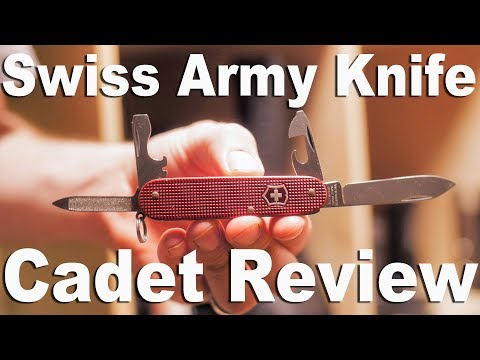 Victorinox Swiss Army Knife Cadet Alox Multitool Review and Function Demonstration