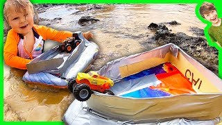 Monster Trucks in Mini Boats!