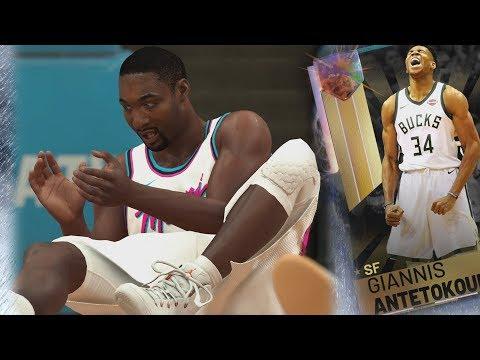 NBA 2K19 My Team - No Halftime Reports! Galaxy Opal Giannis!