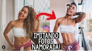 IMITANDO FOTOS DO INSTA DA MINHA NAMORADA!