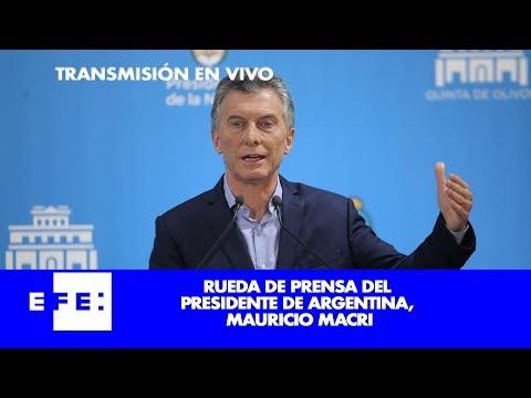 Mauricio Macri, ofrece una conferencia de prensa.