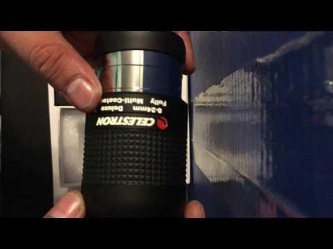 Unboxing of Celestron zoom lense eye piece 93232