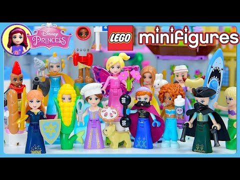 Disney Princess Dress Up in Lego Minifigures Costumes Series 17 Complete Set Silly Play Kids Toys