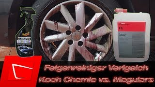 Koch Chemie Felgenblitz vs. Meguiar's Ultimate All Wheel Cleaner - Felgenreiniger Vergleich
