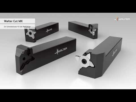Walter CUT MX-Stechplatte und G3011/G3021-Monoblock-Werkzeug