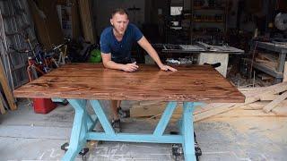 How To Build A Farmhouse Table - Trestle Style X Frame - DIY