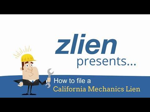 How To File A California Mechanics Lien