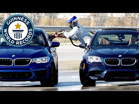 BMW set two record titles in incredible drifting event - Guinness World Records