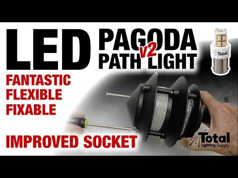 Vintage LED Low Voltage Outdoor Landscape Lighting 3-Tier Pagoda Light 2.0 overview