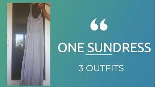 one sundress 3 outfits | sustainable fashion