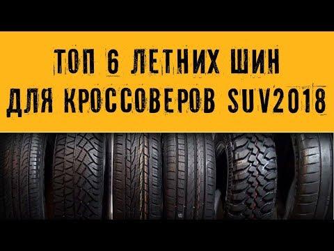 ТЕСТ-ОБЗОР: ТОП-6 Летних Шин 2018 для кроссоверов видео