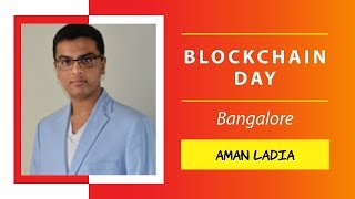 Aman Ladia presenting on How to Make Smart Contracts Smarter @ Blockchain Day, Bangalore