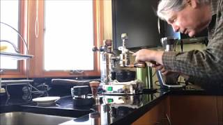 Pulling a Shot on a La Pavoni manual lever