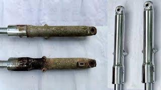 Honda CD 90 Fork Restoration | How to repair and Replace Fork Seals