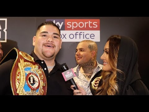 """""""WE'RE GOING TO DIE TRYING TO GET THE VICTORY!"""" ANDY RUIZ REACTS TO AJ SPARRING RUMORS!"""