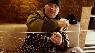 Как посадить дель рыболовную на шнур