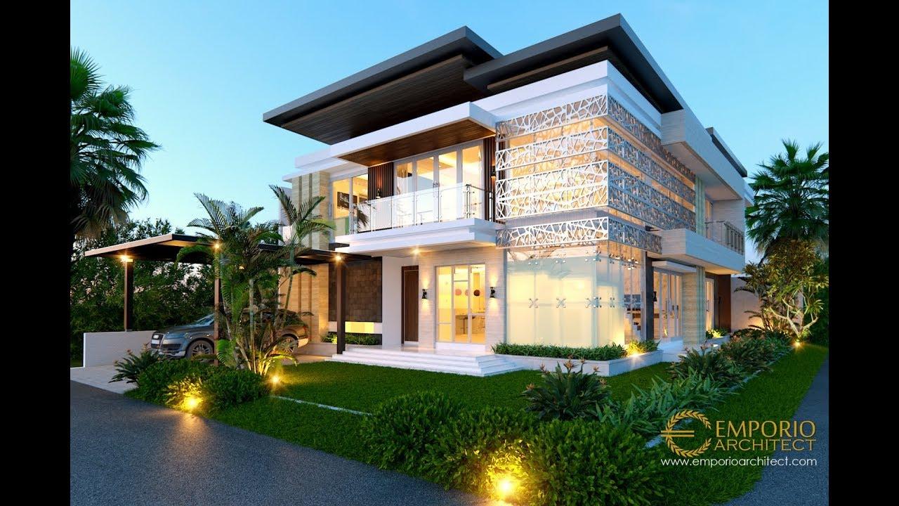Video 3D Desain Rumah Hook Modern 2 Lantai Ibu Indi - Palembang