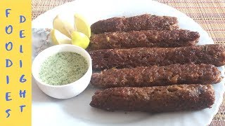 Beef Seekh Kabab on Pan Without Oven, Tandoor | Smoky Recipe by Foodies Delight