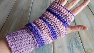 How To Design Your Own Crochet Fingerless Mittens / Wrist Warmers