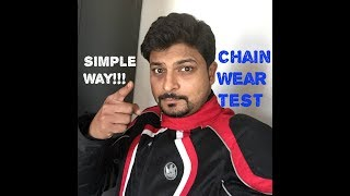 Motorcycle Chain Wear Test | When to replace chain or Sprocket | Royal Enfield TB500 Chain Pull Test